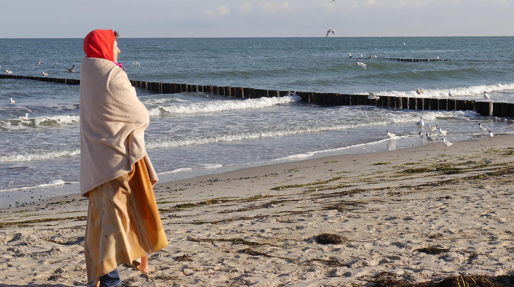 Mensch-am-Strand
